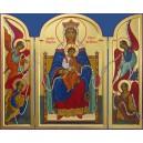 La Mère de Dieu qui défait les noeuds - fond bleu
