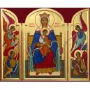 La Mère de Dieu qui défait les noeuds - fond bordeau